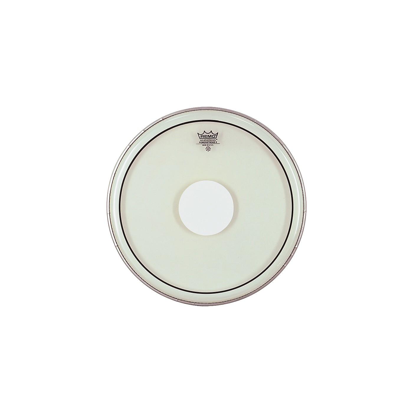 Remo Powerstroke II White Dot Single Ply Snare Batter Head thumbnail