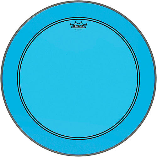 Remo Powerstroke P3 Colortone Blue Bass Drum Head thumbnail