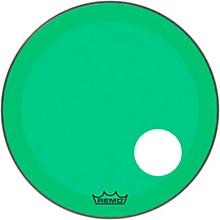 "Remo Powerstroke P3 Colortone Green Resonant Bass Drum Head 5"" Offset Hole"
