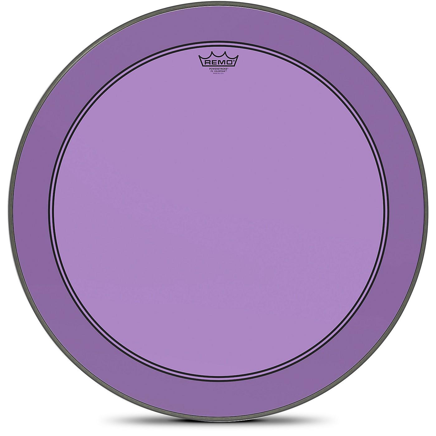 Remo Powerstroke P3 Colortone Purple Bass Drum Head thumbnail