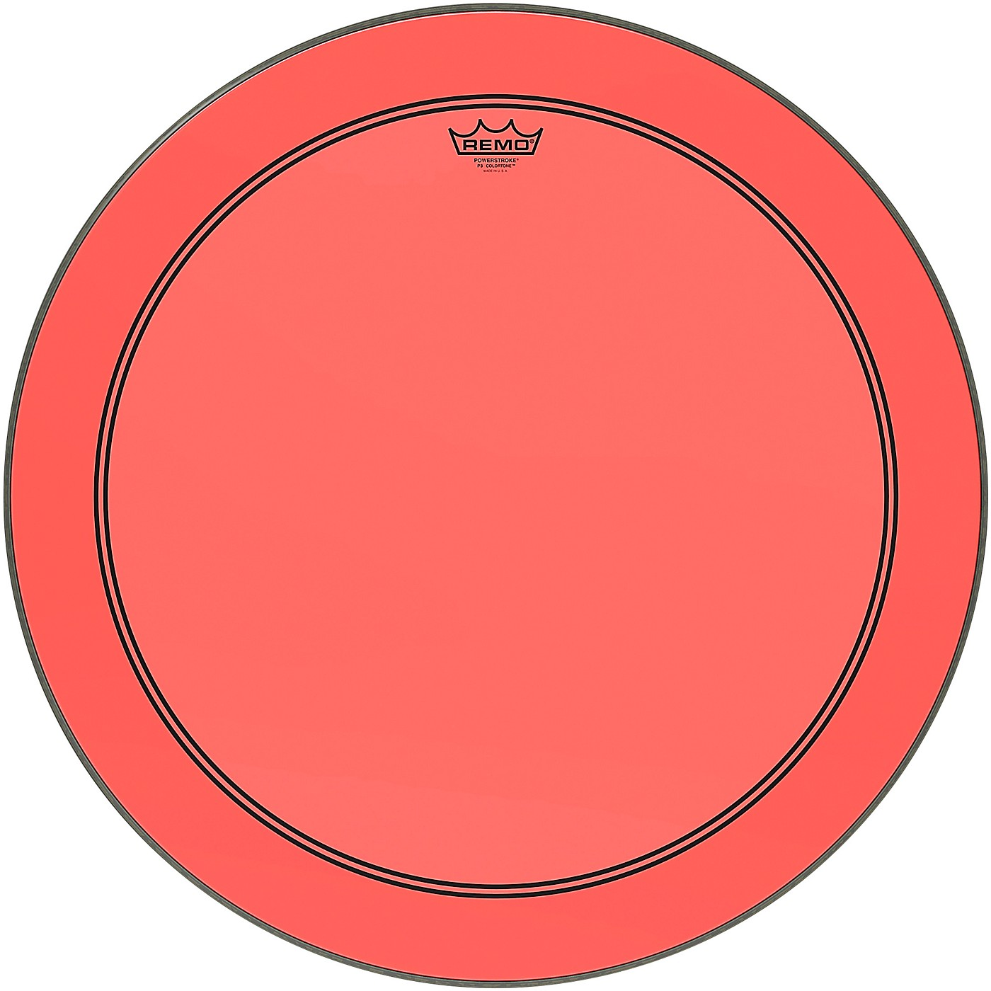 Remo Powerstroke P3 Colortone Red Bass Drum Head thumbnail