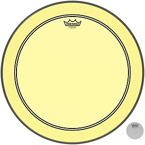 remo 18 in powerstroke p3 colortone yellow bass drum head woodwind brasswind. Black Bedroom Furniture Sets. Home Design Ideas