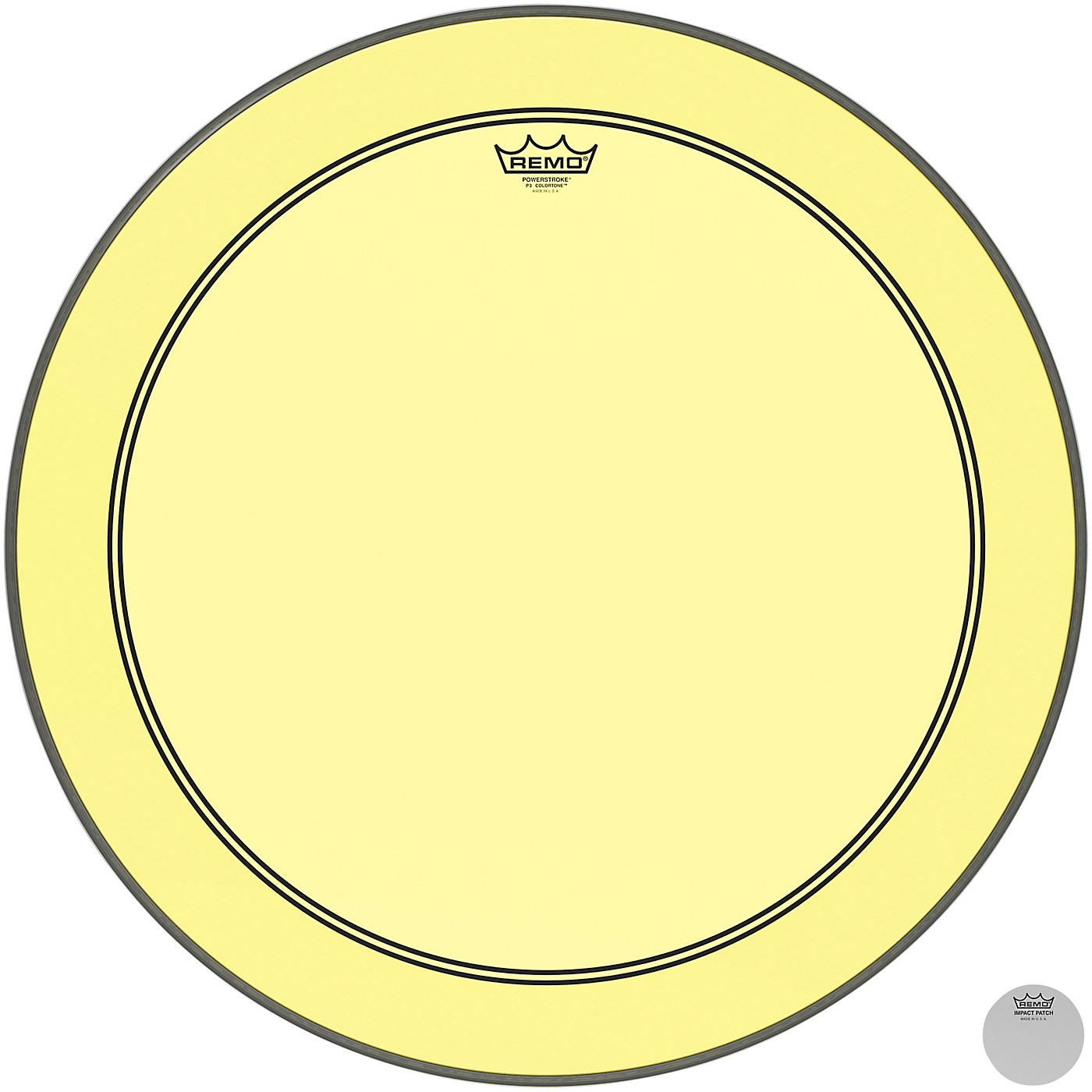 Remo Powerstroke P3 Colortone Yellow Bass Drum Head thumbnail