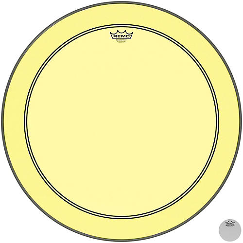 Remo Powerstroke P3 Colortone Yellow Bass Drum Head thumbnail