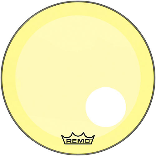 remo 20 in powerstroke p3 colortone yellow resonant bass drum head 5 offset hole woodwind. Black Bedroom Furniture Sets. Home Design Ideas