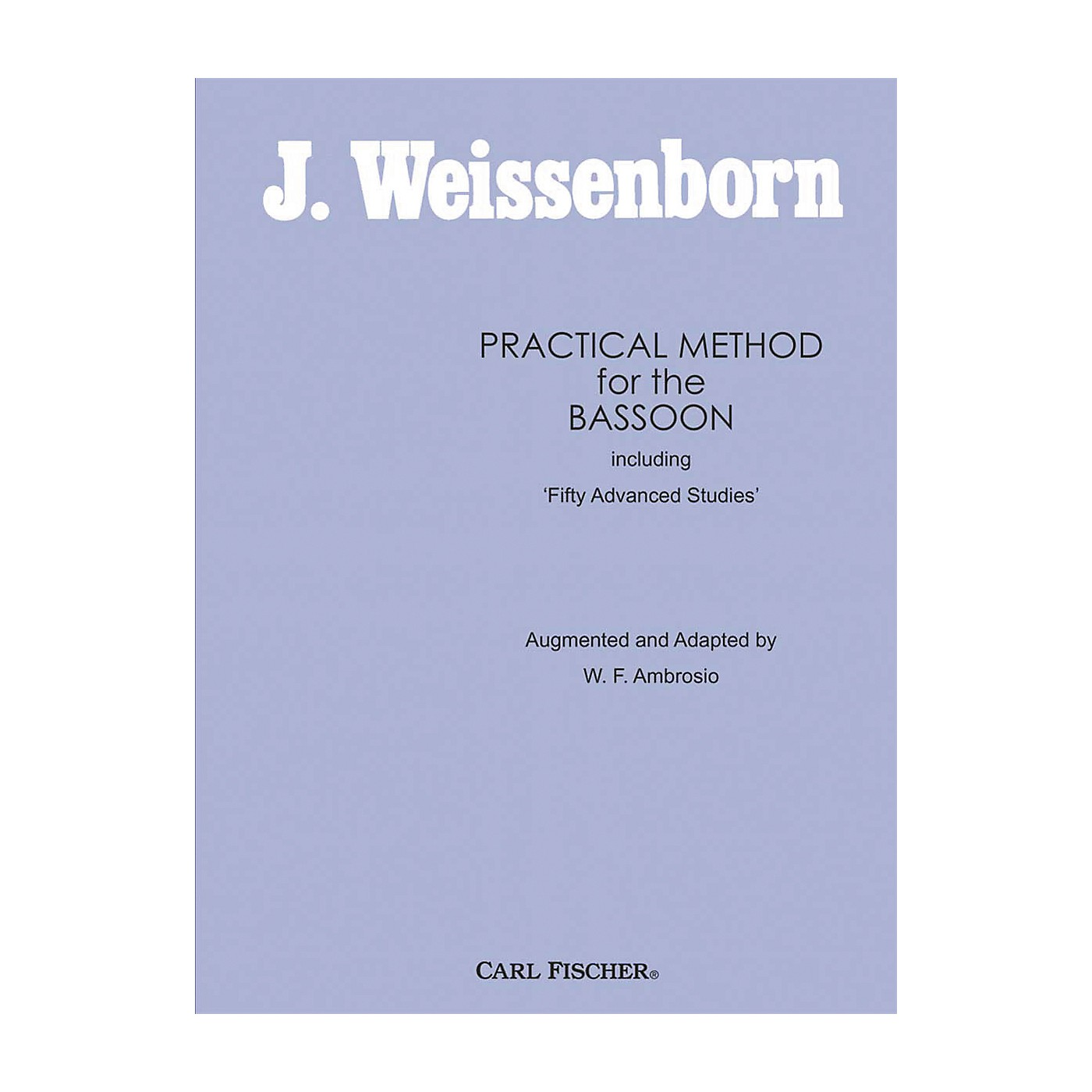 Carl Fischer Practical Method For The Bassoon thumbnail