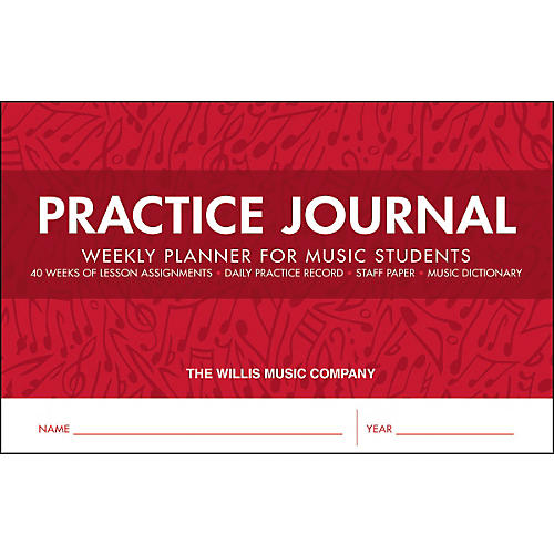 Willis Music Practice Journal - Weekly Planner for Music Students thumbnail