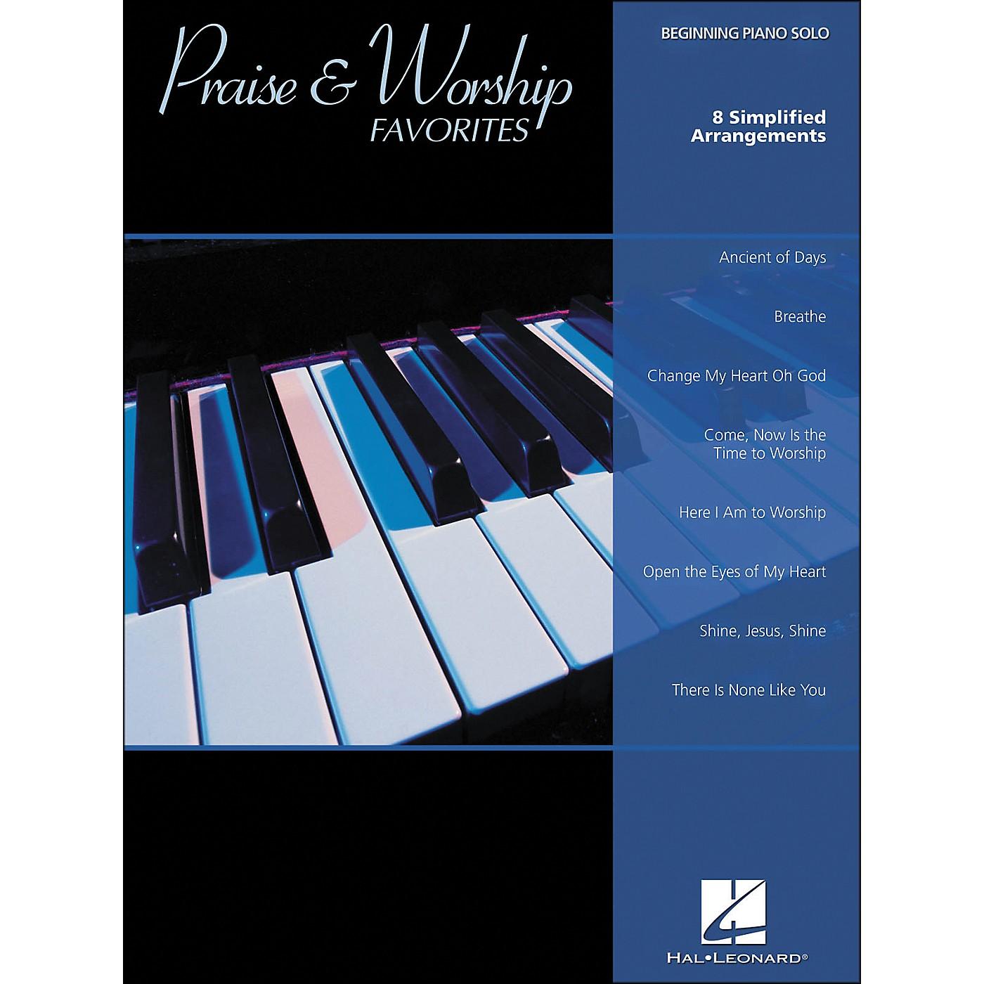 Hal Leonard Praise & Worship Favorites Beginning Piano Solo thumbnail