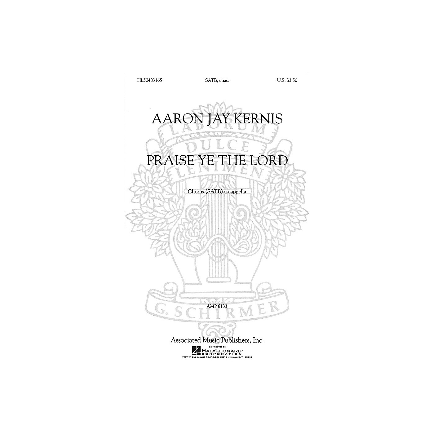 Associated Praise Ye the Lord (SSAATTBB a cappella) SSAATTBB A Cappella composed by Aaron Jay Kernis thumbnail