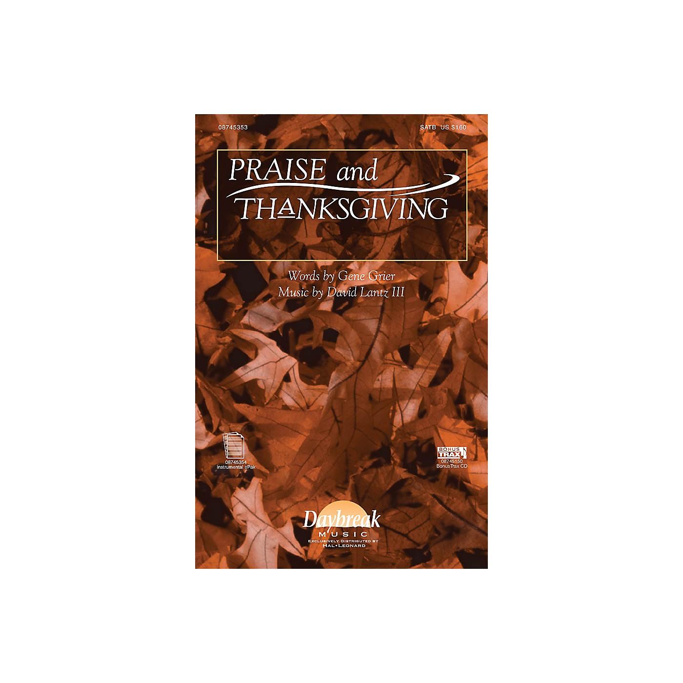 Daybreak Music Praise and Thanksgiving SATB composed by David Lantz III/Gene Grier thumbnail