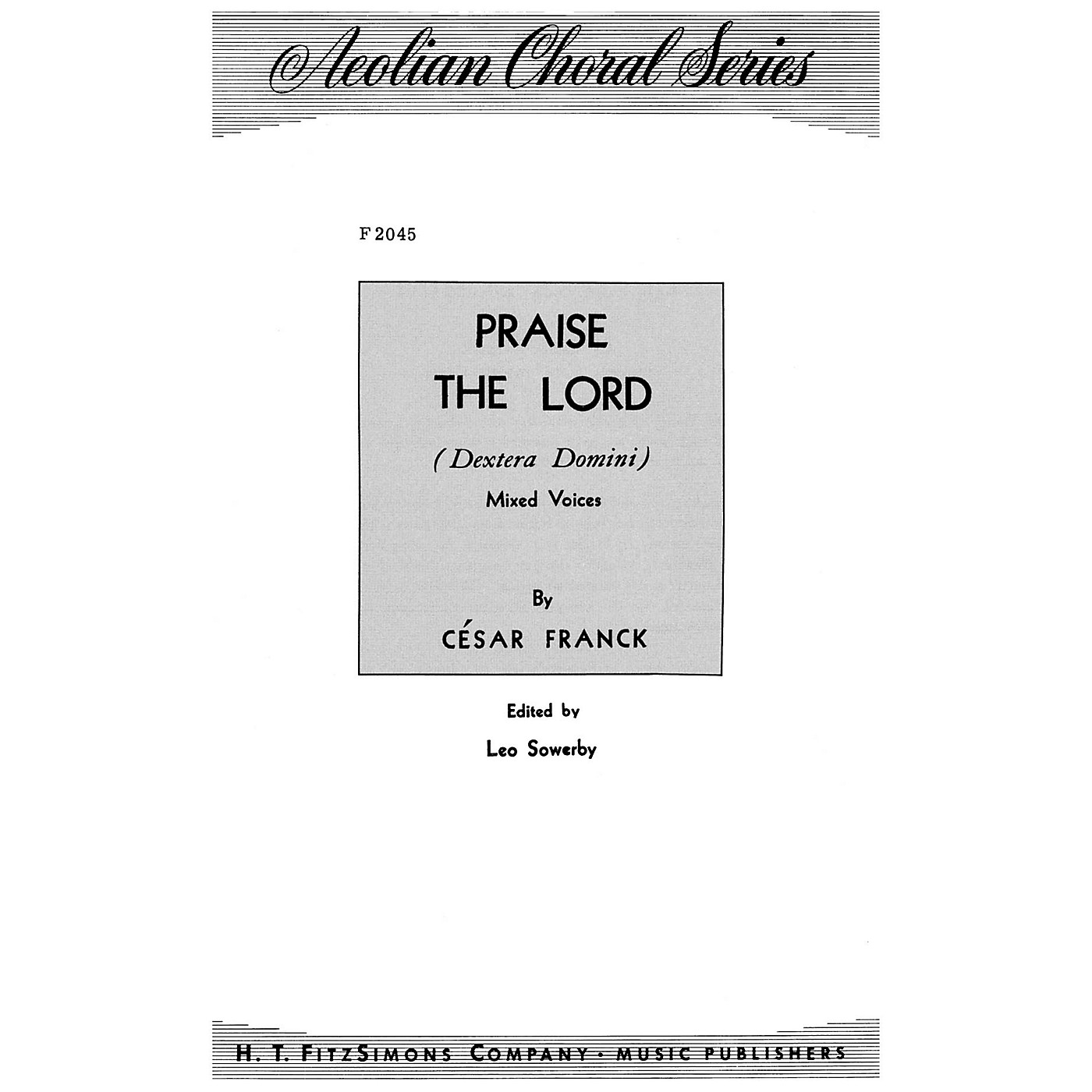 Fred Bock Music Praise the Lord SATB arranged by Leo Sowerby thumbnail