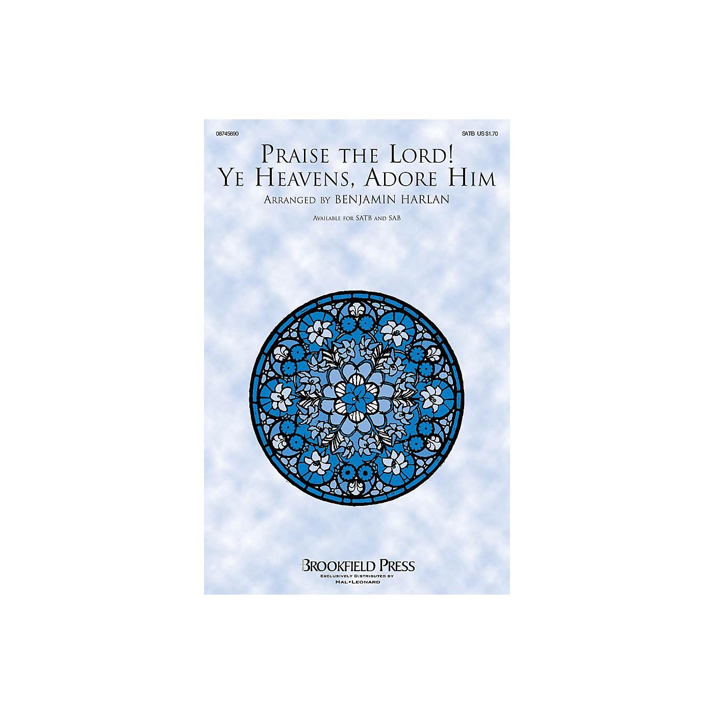Brookfield Praise the Lord! Ye Heavens, Adore Him SATB arranged by Benjamin Harlan thumbnail