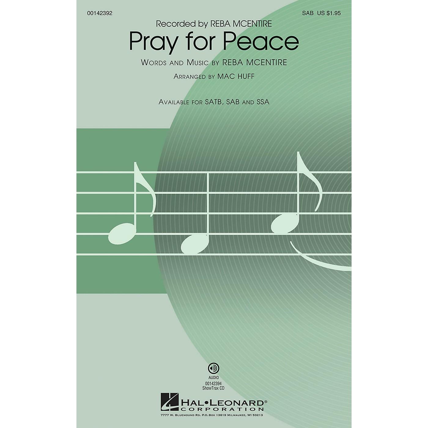 Hal Leonard Pray for Peace SAB by Reba McEntire arranged by Mac Huff thumbnail