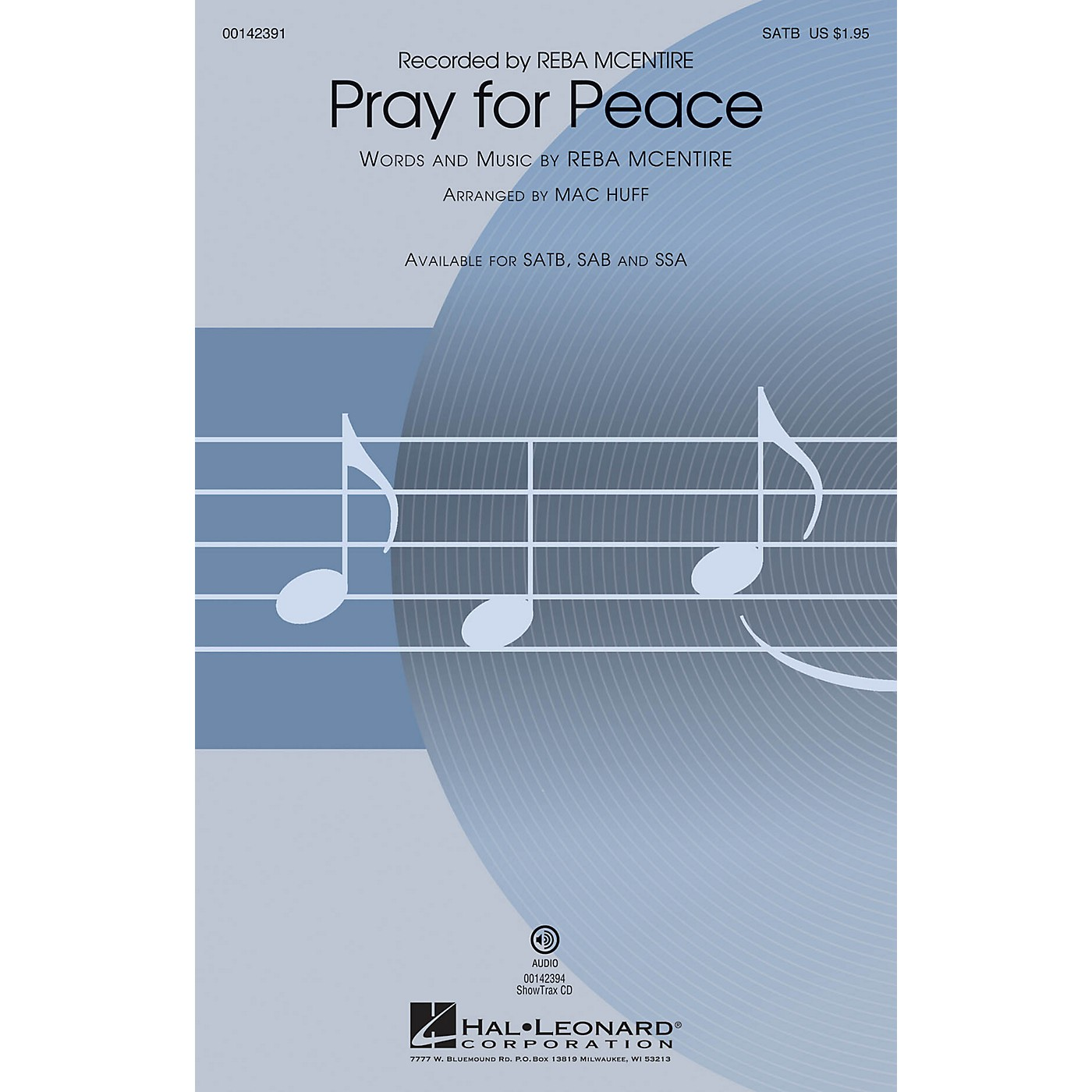 Hal Leonard Pray for Peace SATB by Reba McEntire arranged by Mac Huff thumbnail