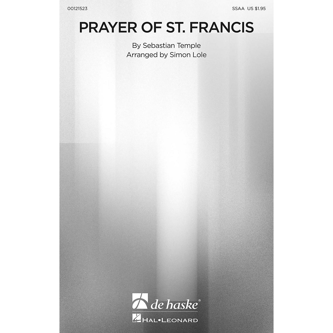 De Haske Music Prayer of St. Francis SSAA arranged by Simon Lole thumbnail