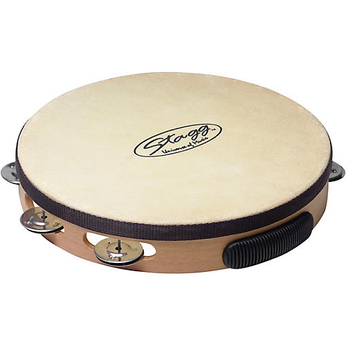 Stagg Pre-Tuned Wood Tambourine With Single Row Jingles thumbnail