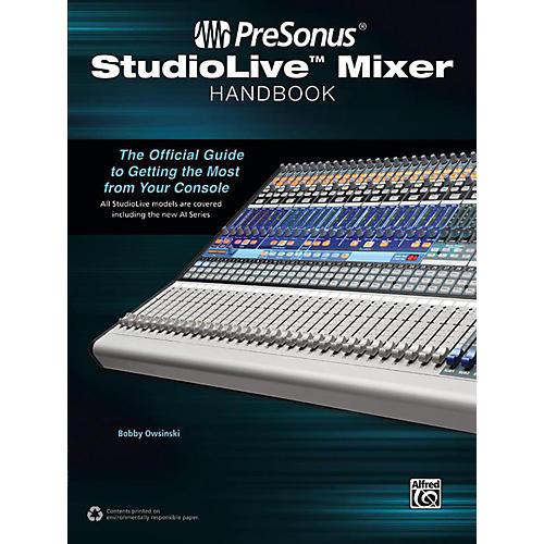 Alfred PreSonus StudioLive Mixer Handbook thumbnail