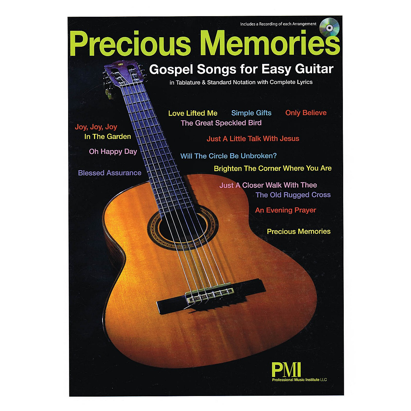 Professional Music Institute Precious Memories (Gospel Songs for Easy Guitar) Easy Guitar Series Softcover with CD thumbnail