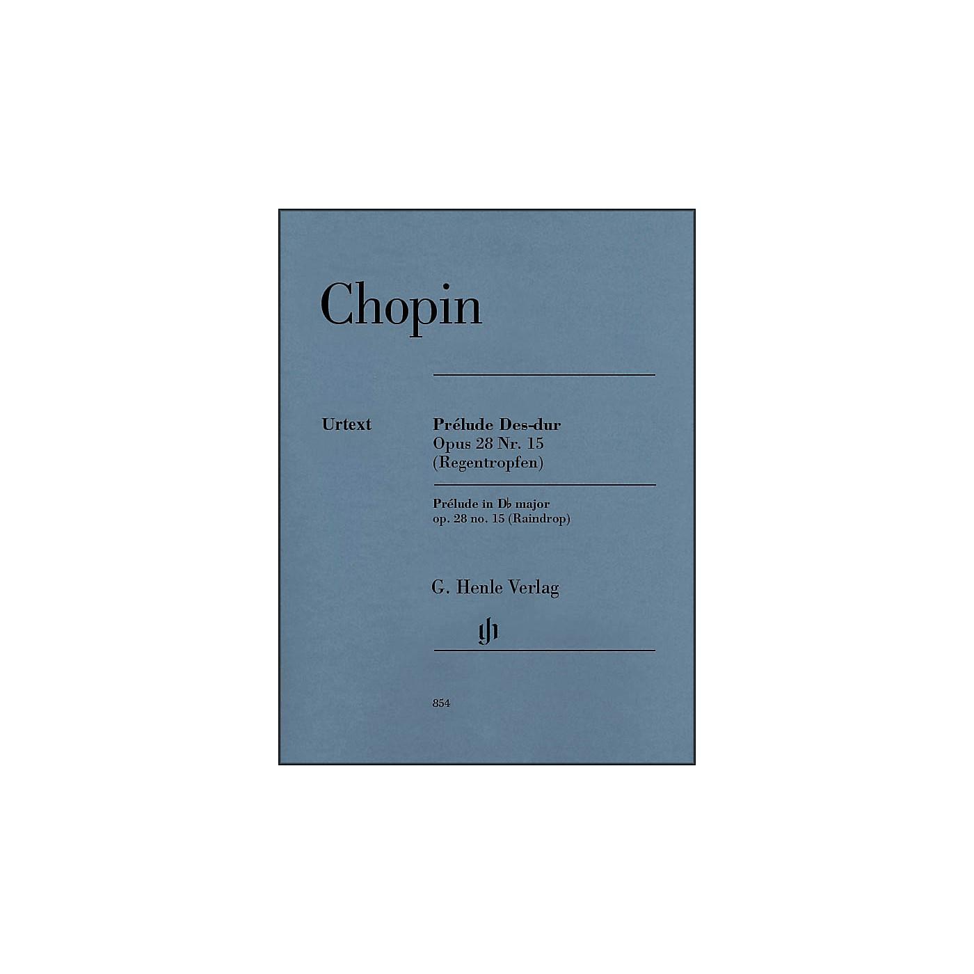 G. Henle Verlag Prelude D Flat Major Op. 28. No. 15 (Raindrop) Piano By Chopin thumbnail