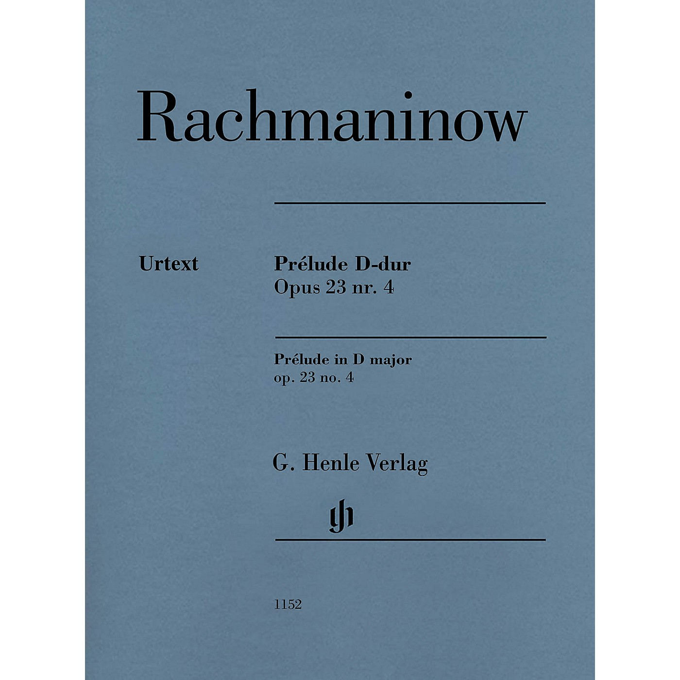 G. Henle Verlag Prelude in D Major Op. 23 No. 4 Henle Music Softcover by Rachmaninoff Edited by Dominik Rahmer thumbnail