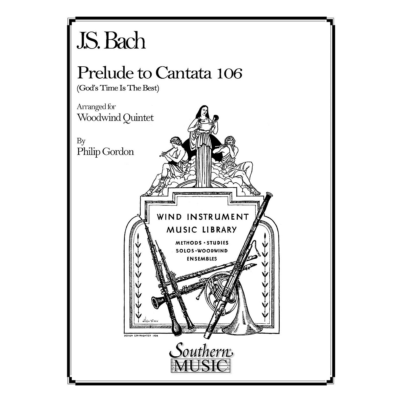 Southern Prelude to Cantata 106 (Woodwind Quintet) Southern Music Series Arranged by Philip Gordon thumbnail