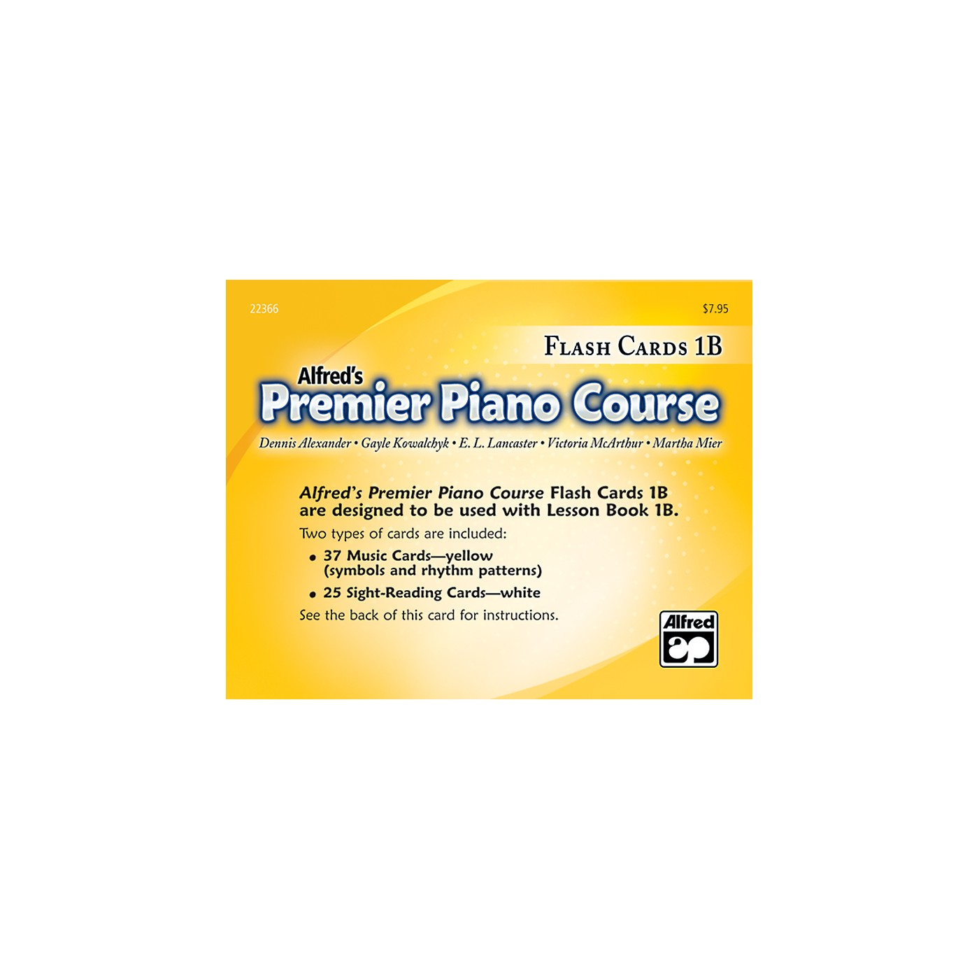 Alfred Premier Piano Course Flash Cards Level 1B thumbnail