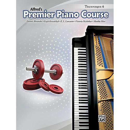 Alfred Premier Piano Course Technique Book 6 Book thumbnail