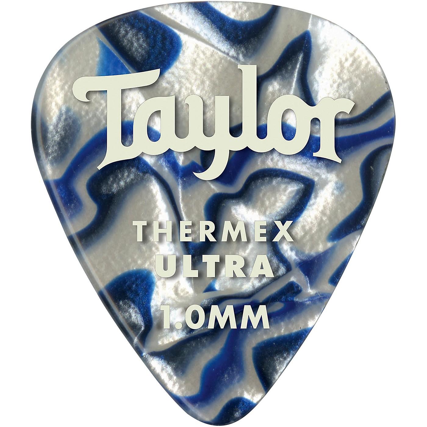 Taylor Premium 351 Thermex Ultra Picks Blue Swirl 6-Pack thumbnail