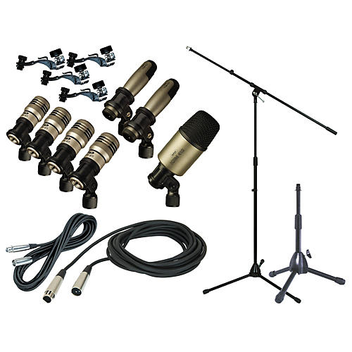 CAD Premium 7-Piece Drum Mic Kit with Stand and Cables thumbnail