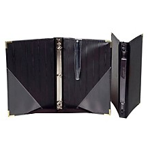 Marlo Plastics Premium Choral Folder 7-3/4 x 11 Octavo Size with 3-Ring Binder - Black