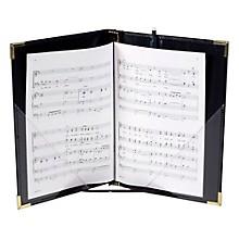 Marlo Plastics Premium Choral Folder 7-3/4 x 11 Octavo Size with Elastic String Holders - Black