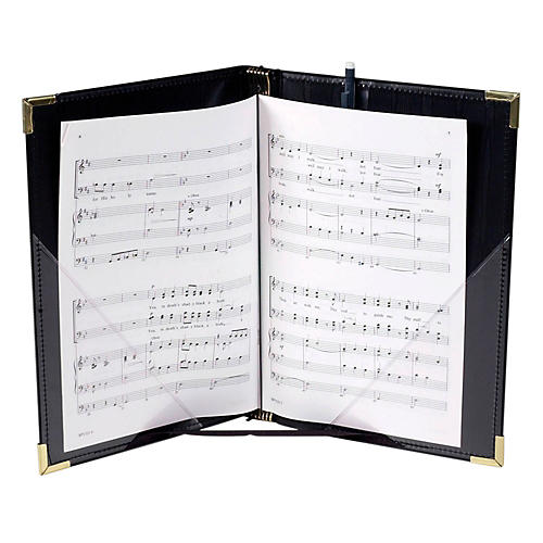 Marlo Plastics Premium Choral Folder 7-3/4 x 11 Octavo Size with Elastic String Holders - Black thumbnail