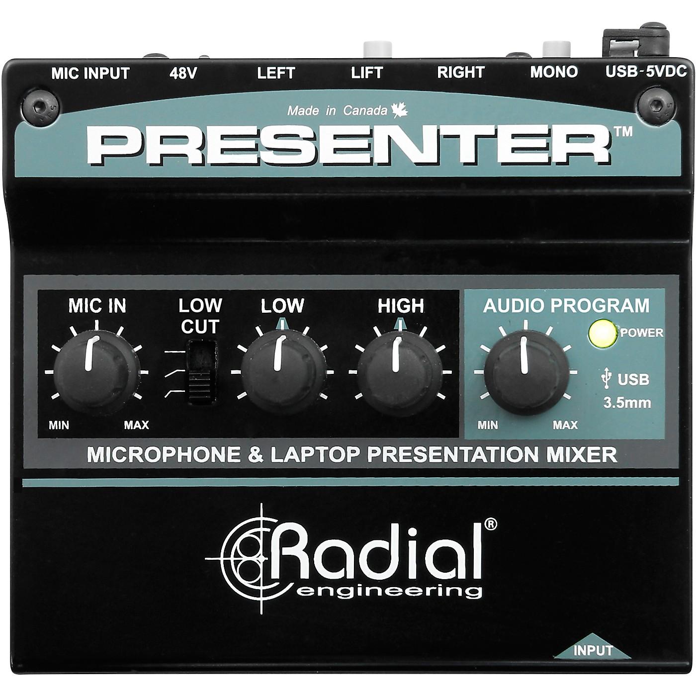 Radial Engineering Presenter Audio Compact Presentation Mixer and USB Interface thumbnail
