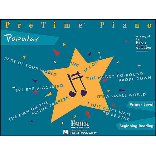 Faber Piano Adventures Pretime Popular Primer/Beginning Reading thumbnail