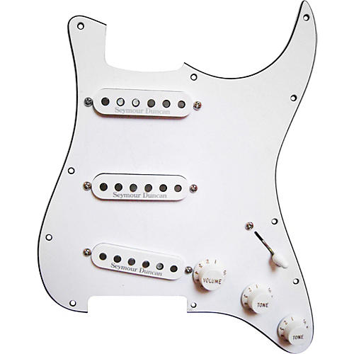 Seymour Duncan Prewired Pickguard with California 50's SSL-1 Pickups White-thumbnail