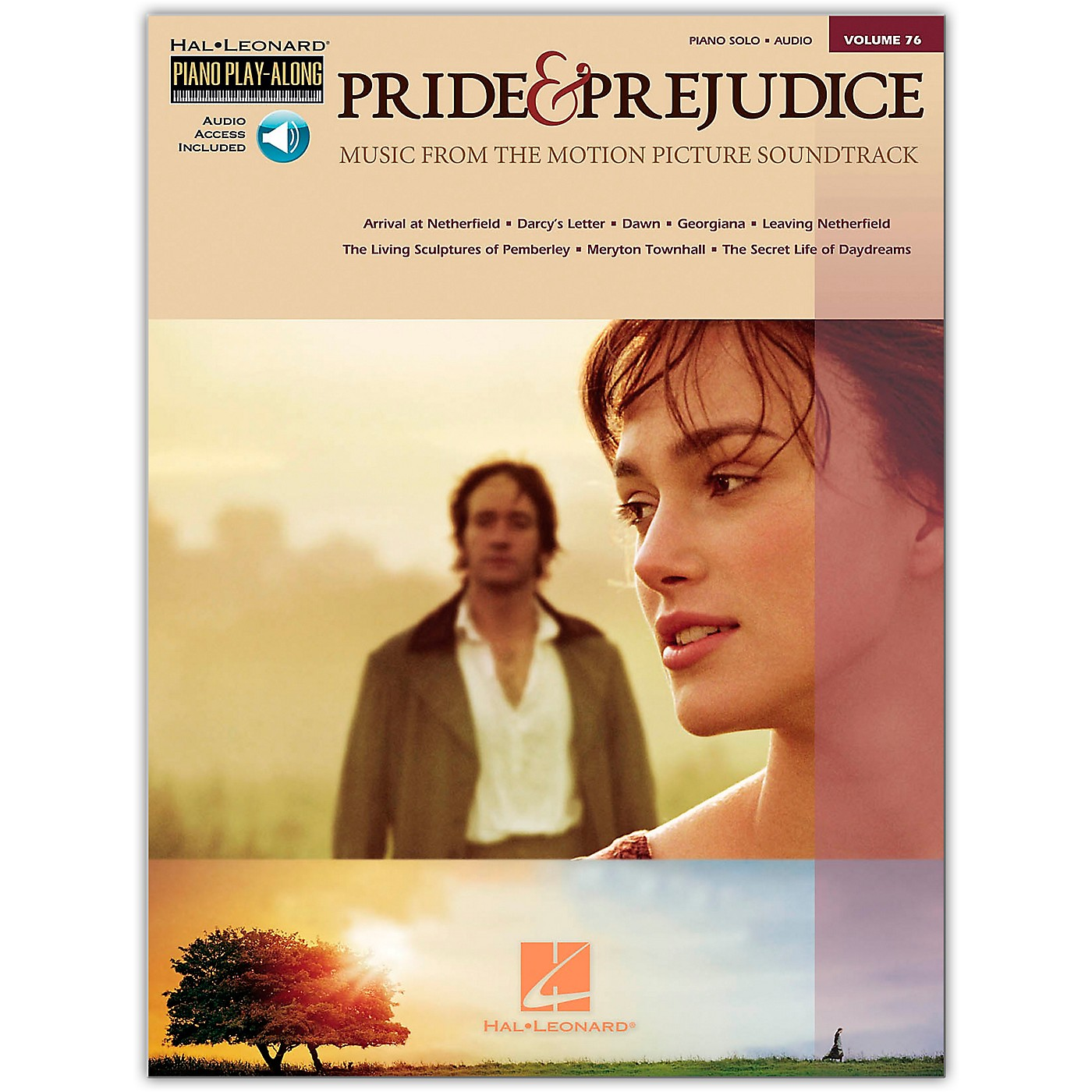 Hal Leonard Pride & Prejudice - Music From The Movie Soundtrack - Piano Play-Along Volume 76 (Book/Online Audio) thumbnail