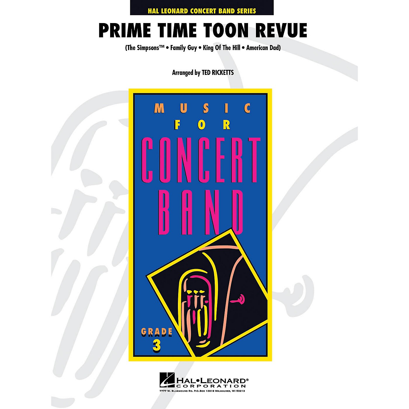 Hal Leonard Prime Time Toon Revue - Young Concert Band Level 3 by Ted Ricketts thumbnail