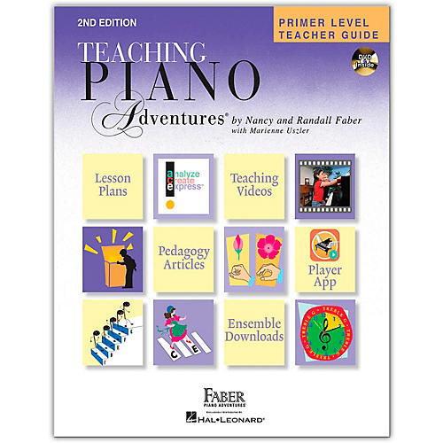 Faber Piano Adventures Primer Level Teacher Guide - Second Edition - Hardcover with DVD thumbnail