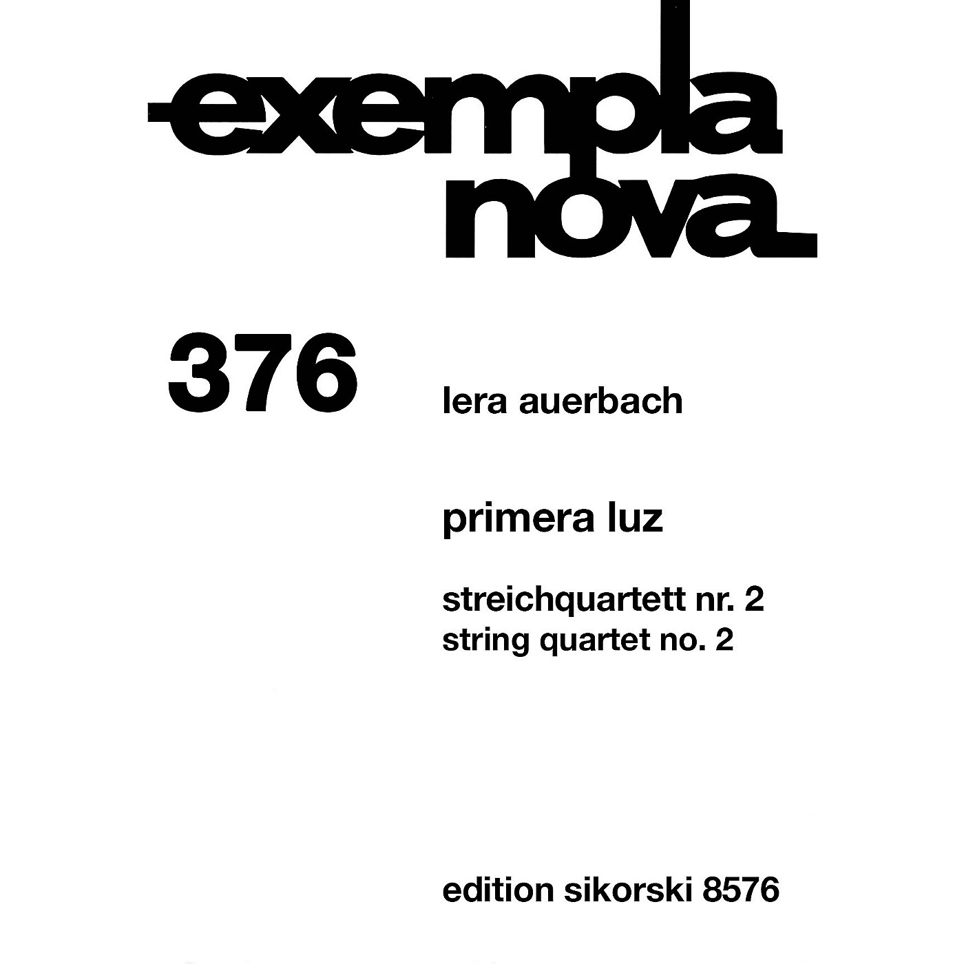 Sikorski Primera Luz (The First Light) String Ensemble Series Composed by Lera Auerbach thumbnail
