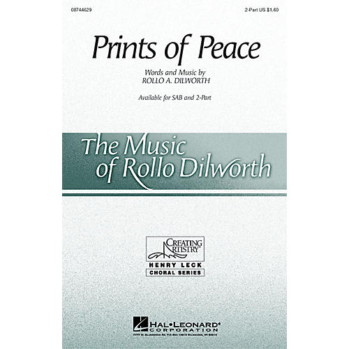 Hal Leonard Prints of Peace 2-Part composed by Rollo Dilworth thumbnail