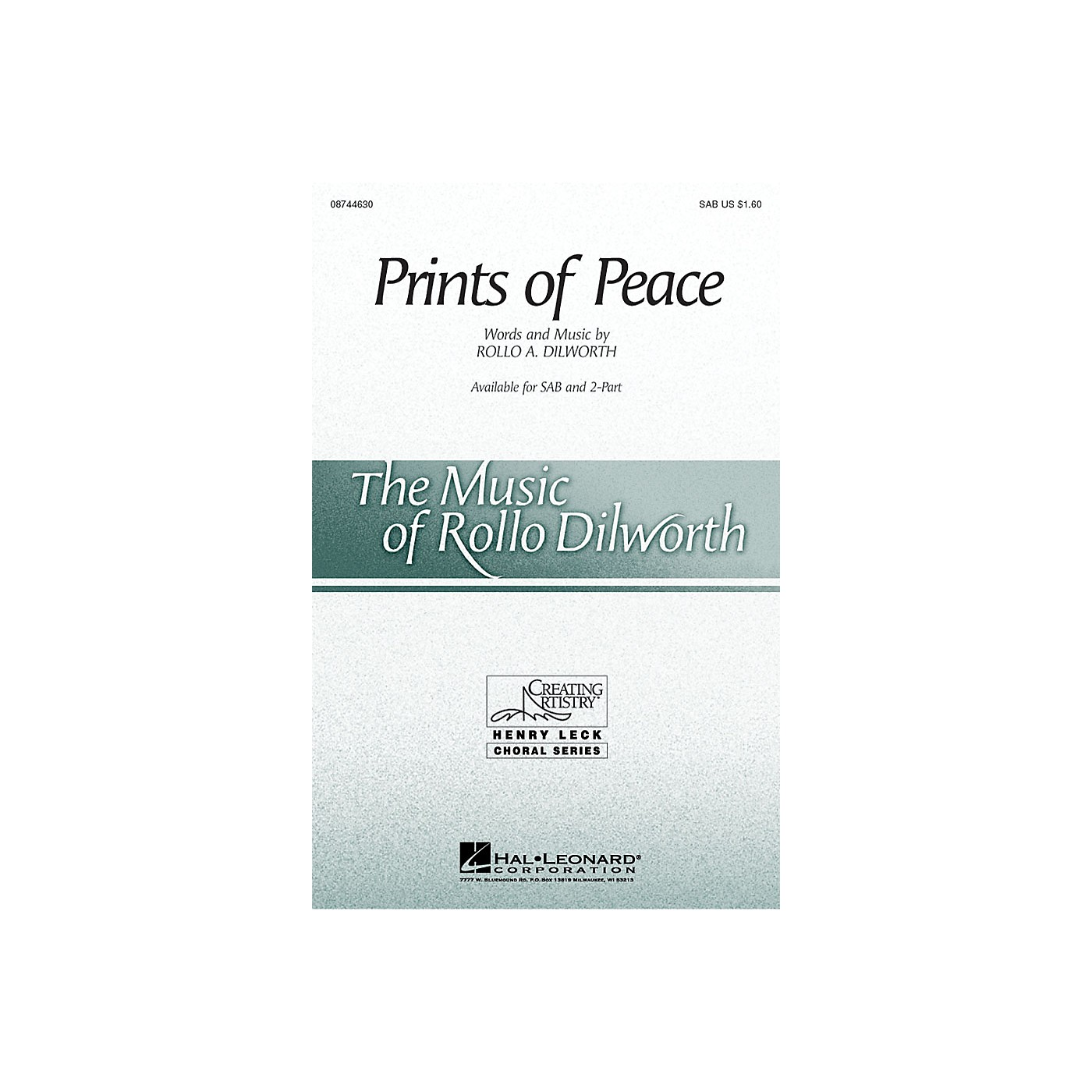 Hal Leonard Prints of Peace SAB composed by Rollo Dilworth thumbnail