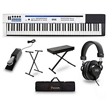 Casio Privia PX-5S Pro Stage Piano with Stand, Sustain Pedal, Deluxe Keyboard Bench, Headphones and Gig Bag