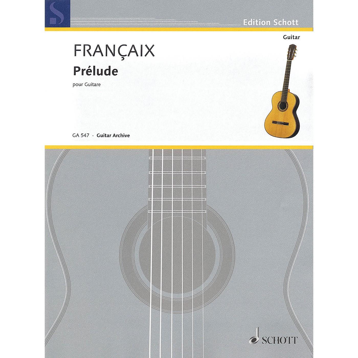 Schott Prélude (for Guitar) Schott Series Softcover Composed by Jean Françaix thumbnail