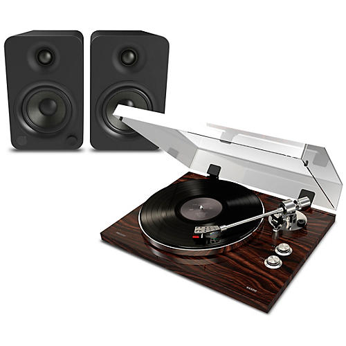 ION Pro BT500 Record Player Package with Kanto YU4 Powered Speakers thumbnail