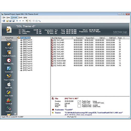 Solid State Logic Pro-Convert Digital Audio Project Translator Software thumbnail