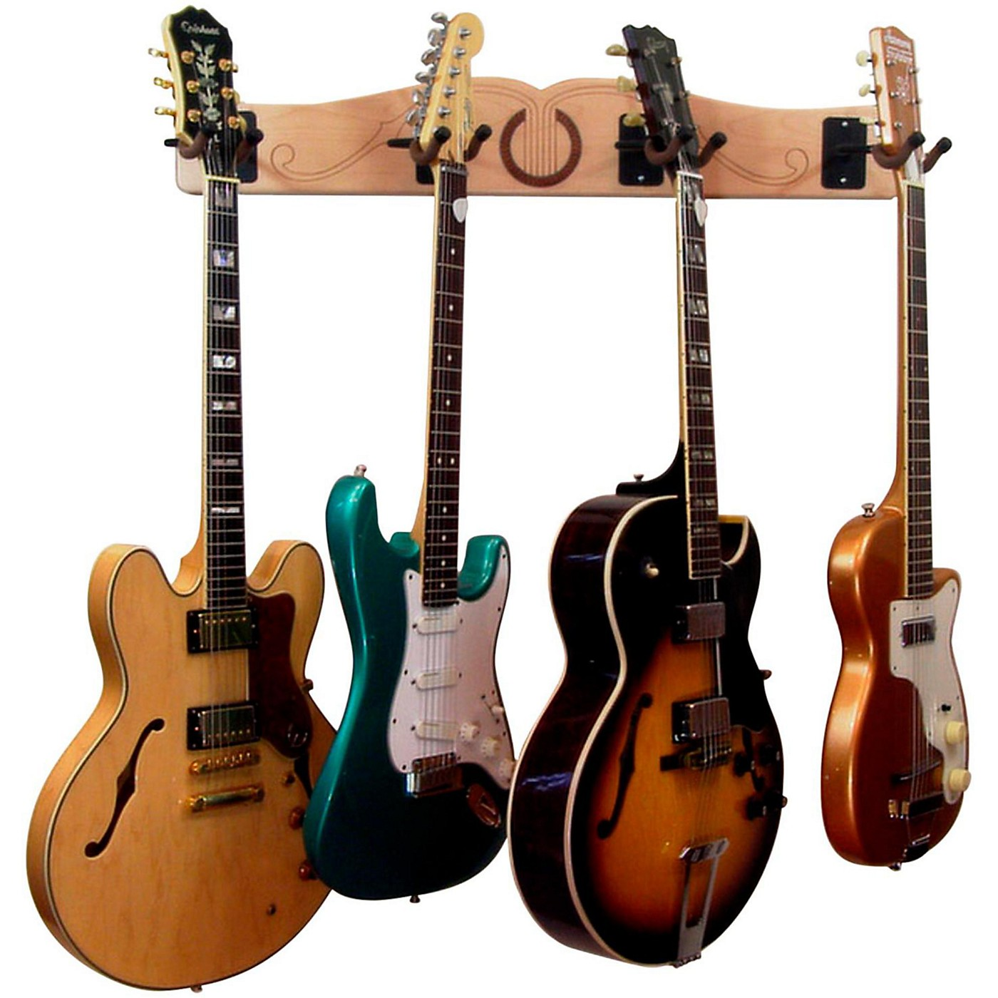A&S Crafted Products Pro-File Wall Mounted 4 Guitar Hanger thumbnail