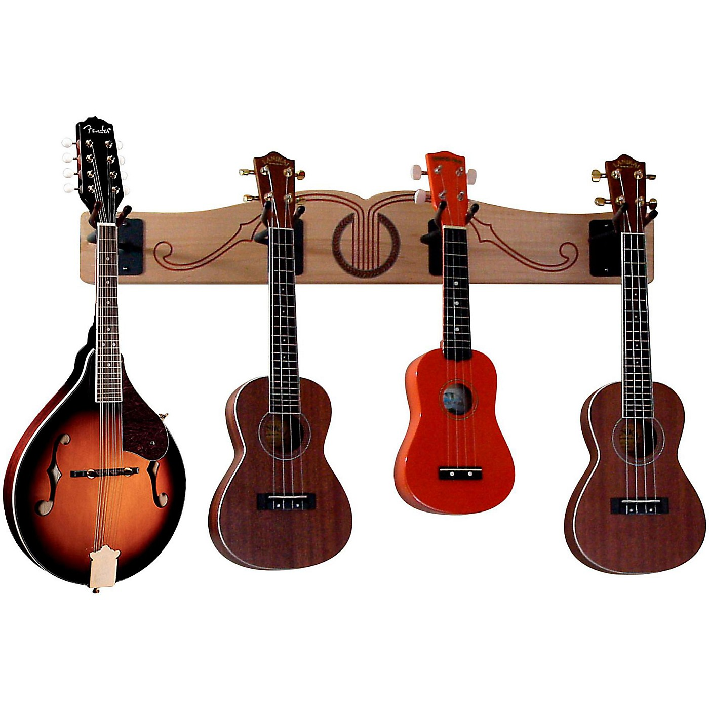 A&S Crafted Products Pro-File Wall Mounted Ukulele & Mandolin Hanger thumbnail