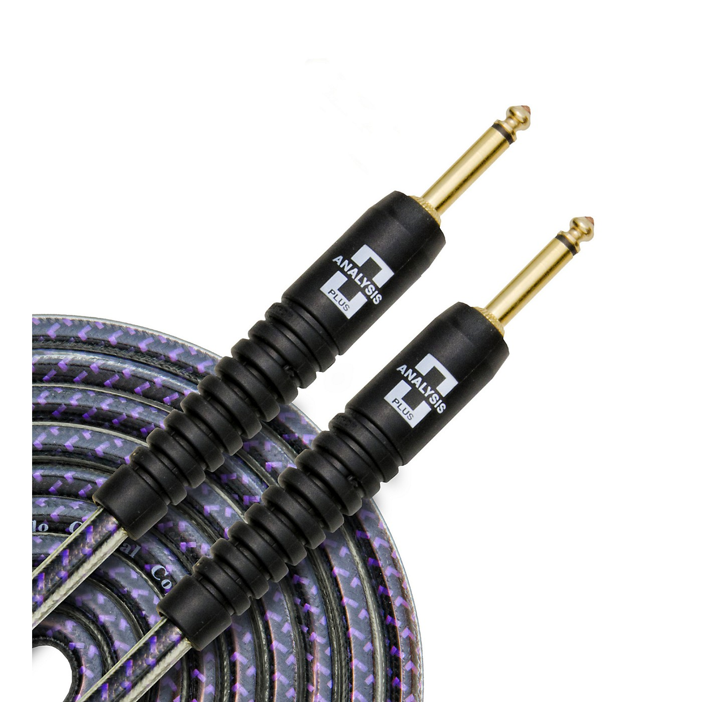 Analysis Plus Pro Oval Studio Instrument Cable with Overmold Gold Plug w/Straight-Straight Plugs thumbnail