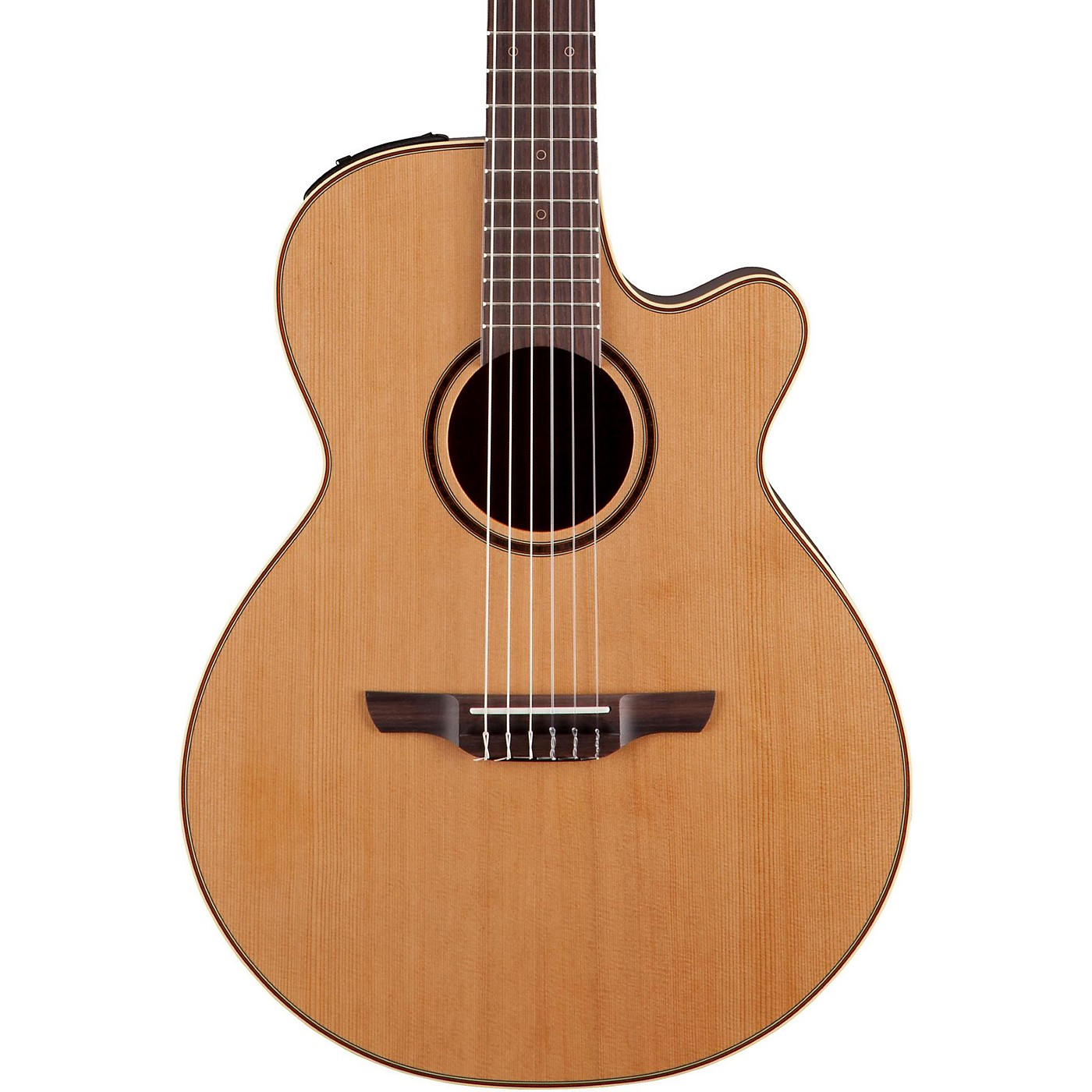 Takamine Pro Series 3 Folk Nylon Cutaway Acoustic-Electric Guitar thumbnail