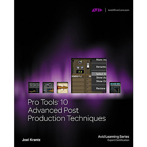 Course Technology PTR Pro Tools 10 Advanced Post Production Techniques Book/DVD thumbnail